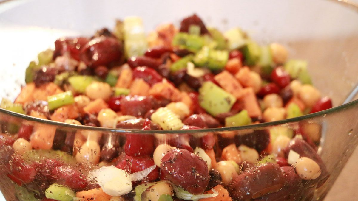 All the beans: Protein Packed Summertime Bean Salad