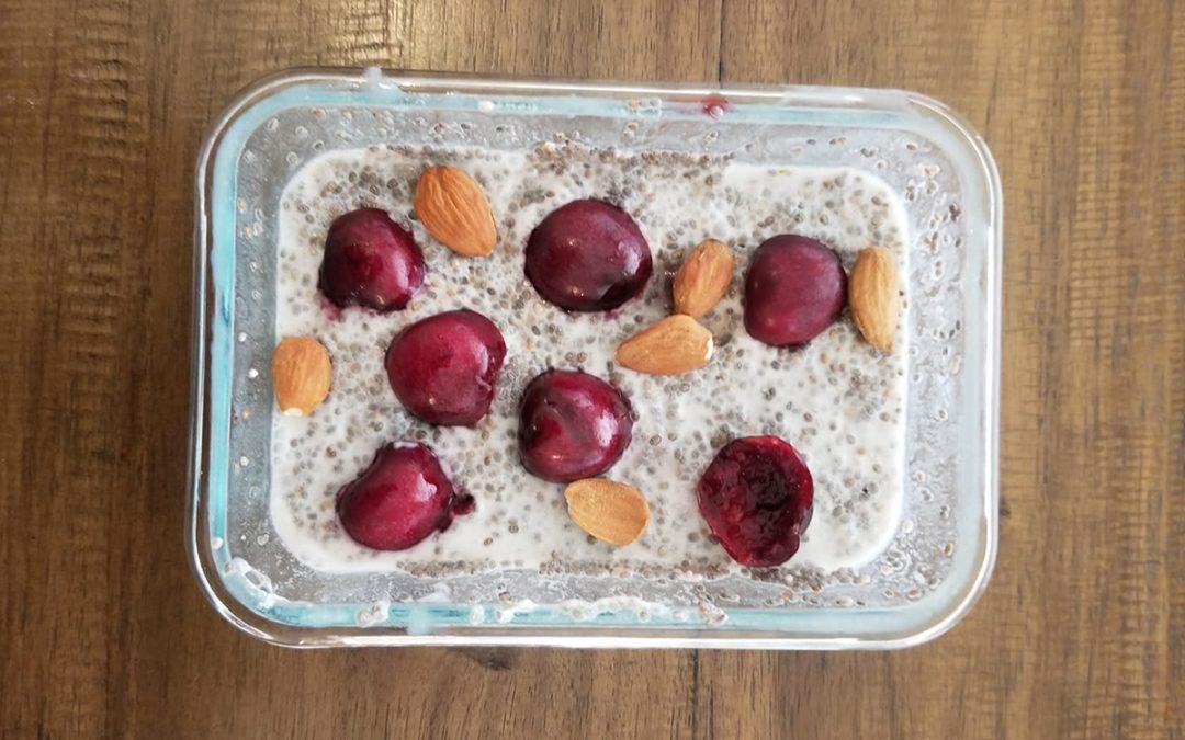 Cherry Almond Chia Pudding 🍒